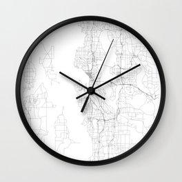 Seattle, United States Minimalist Map Wall Clock
