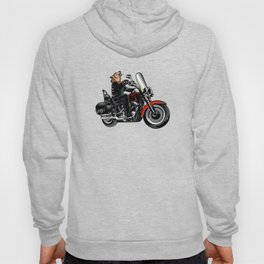 Wolf on the motorcycle Hoody