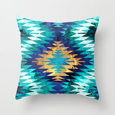Inverted Navajo Suns Throw Pillow