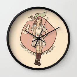 Queen of Diamonds Wall Clock