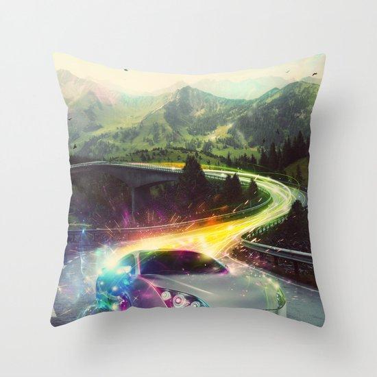 Superhighway Throw Pillow
