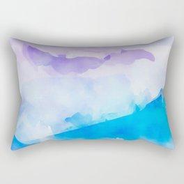 Turquoise Batik Mountains Rectangular Pillow