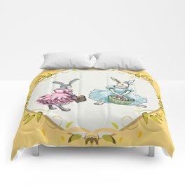 Dressed Easter Bunnies 2 Comforters