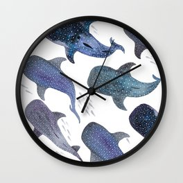 Whale Shark Pattern Party Wall Clock