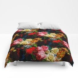 baroque flora Comforters