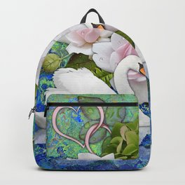 Swans and Roses Backpack