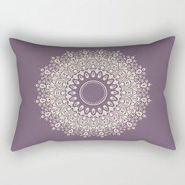 Mandala in Mulberry and White Rectangular Pillow