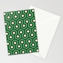 Emerald Goth Hexagons Pattern Stationery Cards