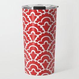 Fan Pattern Red 118 Travel Mug