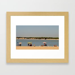 Color me with sun Framed Art Print