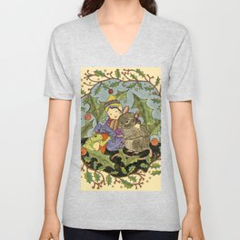 Sheltering The Little Folk Unisex V-Neck