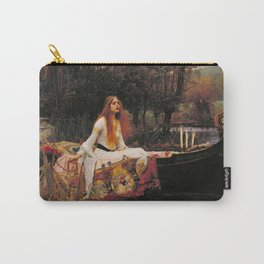John William Waterhouse The Lady Of Shallot Restored Carry-All Pouch