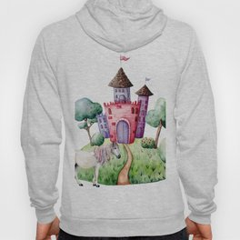 Magic catle. Watercolor Hoody