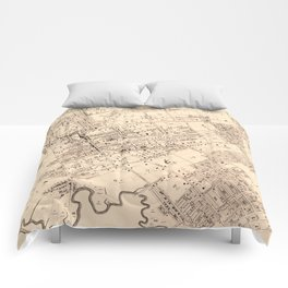 Vintage Map of Flushing NY (1894) Comforters