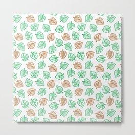 animal crossing leaf nook shirt pattern Metal Print