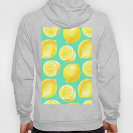 Watercolor lemons pattern Hoody