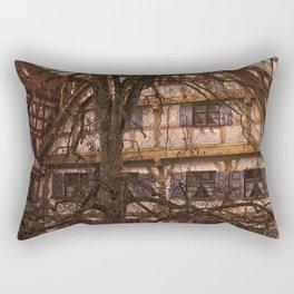 old half-timbered house with restaurant ( Ulm - Fischerviertel ) Rectangular Pillow
