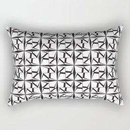 Triangle Quarters Rectangular Pillow