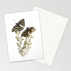 Two Brown Butterflies Stationery Cards