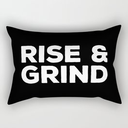 Rise & Grind Gym Quote Rectangular Pillow