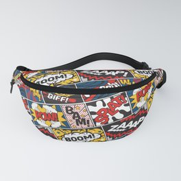 Modern Comic Book Superhero Pattern Color Colour Cartoon Lichtenstein Pop Art Fanny Pack