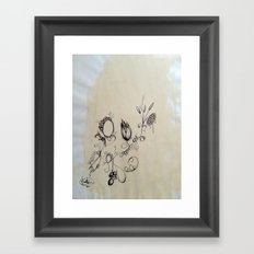 coffee and ink Framed Art Print