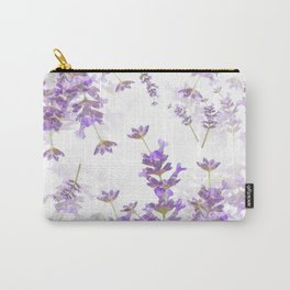 Lavender Bouquets On White Background #decor #society6 #buyart Carry-All Pouch