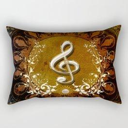 Music, wonderful decorative clef Rectangular Pillow
