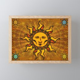 Bright Sun #2 Psychedelic Character Icon Tapestry Framed Mini Art Print
