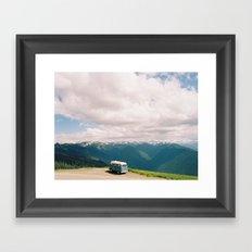Bus on Hurricane Ridge  Framed Art Print