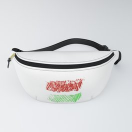 flag of hungary - chalk version Fanny Pack