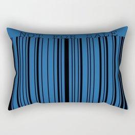 Not For Sale barcode Rectangular Pillow