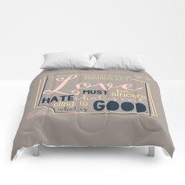 LOVE Bible Quote Comforters