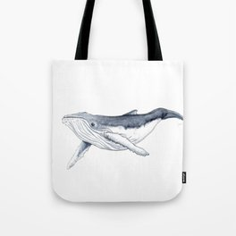 Baby humpback whale (Megaptera novaeangliae) Tote Bag