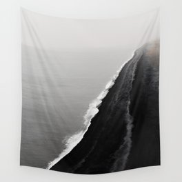 BLACK SAND BEACH Wall Tapestry