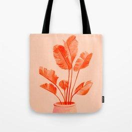Coral Banana Plant Tote Bag