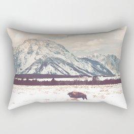 Bison & Tetons Rectangular Pillow