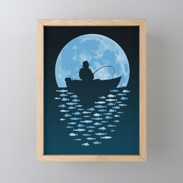 Hooked by Moonlight Framed Mini Art Print