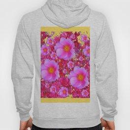 Golden Design Fuchsia Roses Floral Garden Art Hoody