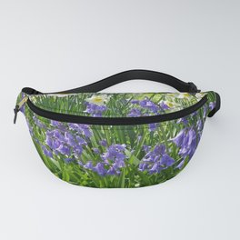 SPRING FLOWERS IN A COTTAGE GARDEN CORNWALL Fanny Pack