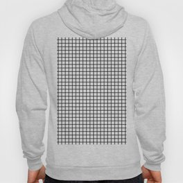 Grid_Black & White_Minimalist Art Hoody