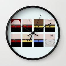 USS Voyager Crew minimalist - Star Trek Voyager VOY - Trektangle startrek - Trektangles  Wall Clock