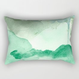 Meadow Pool Abstract Rectangular Pillow