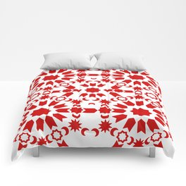Red Arabesque Comforters
