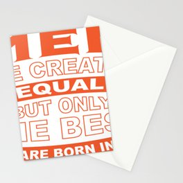 Best Men are Born in Oktober Stationery Cards
