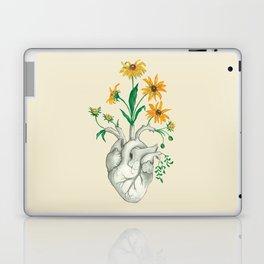 Floral Heart: Sunflower Human Anatomy Laptop & iPad Skin
