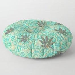 Beachy Steampunk Weed Floor Pillow