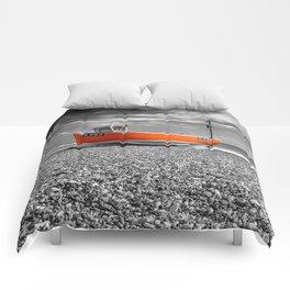 Orange Boat Comforters