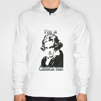 beethoven Hoodies featuring Beethoven by Stitched up designs