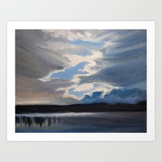 Parting Clouds  Art Print